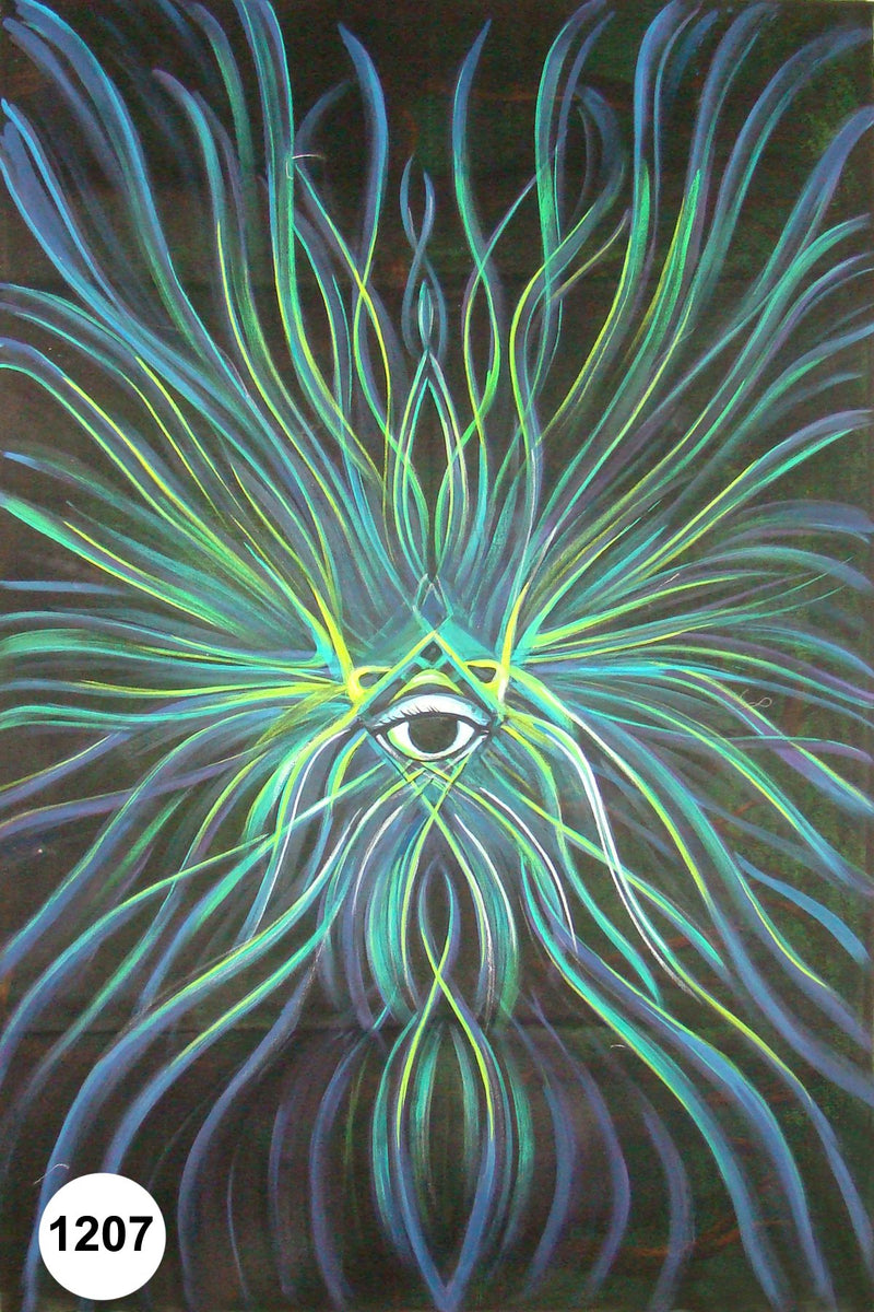 UV Glow Painting Eye Abstract