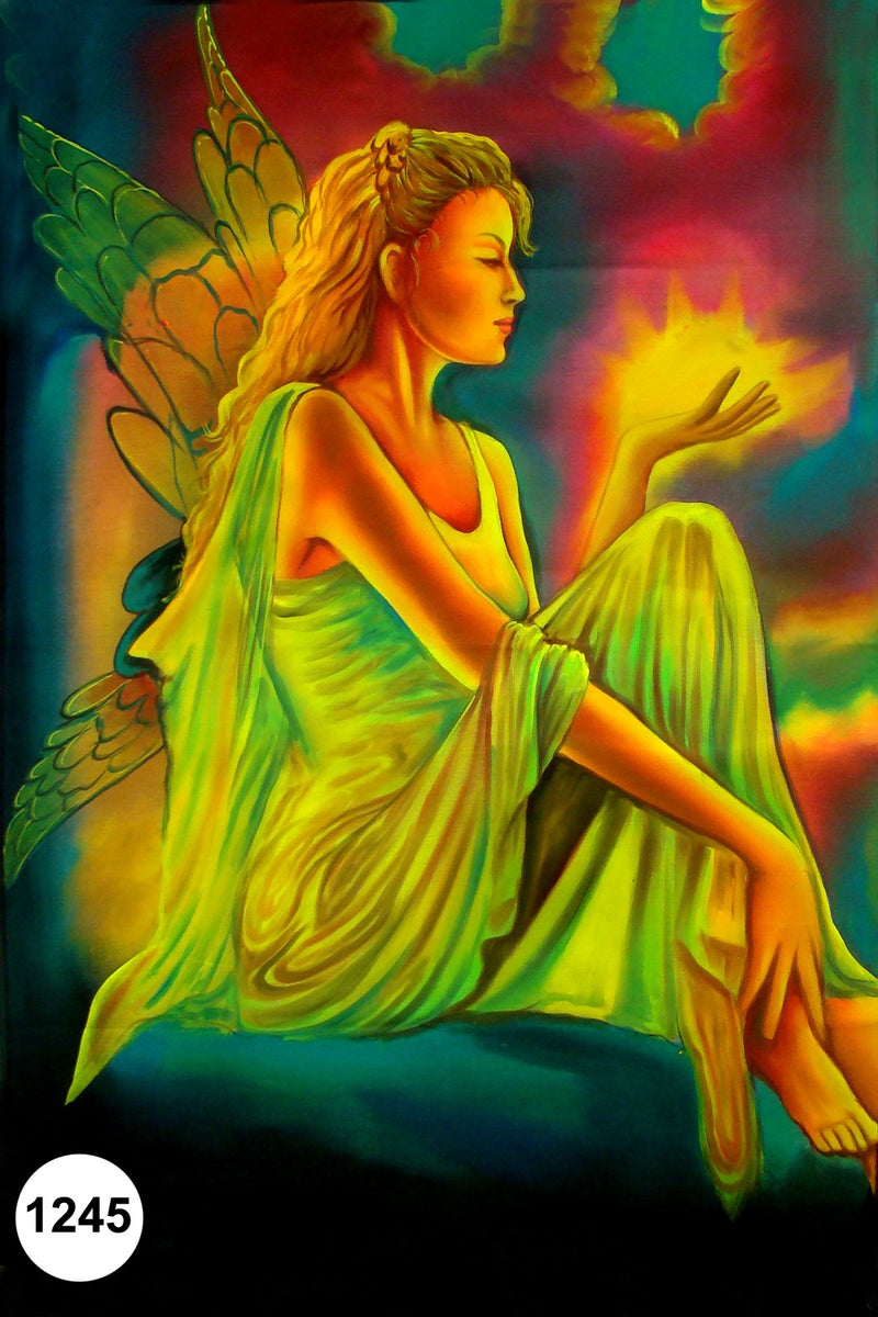 UV Glow Painting Fairy with Fire