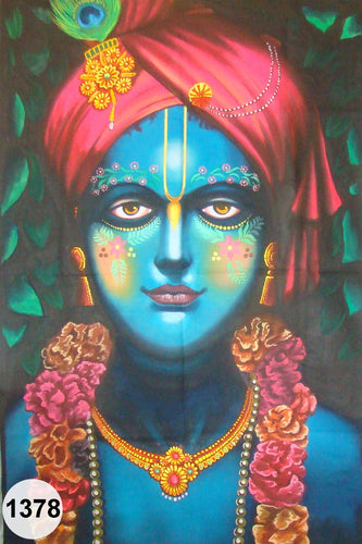 UV Glow Painting Lord Krishna