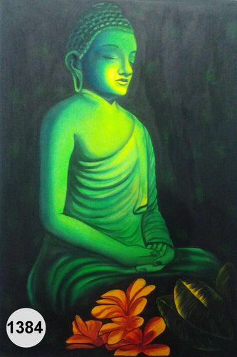 UV Glow Painting Lord Buddha Meditation