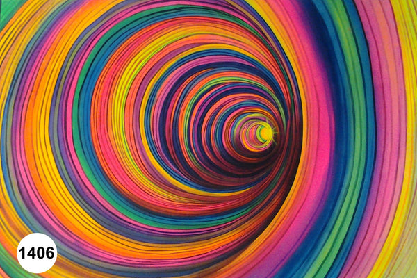 UV Glow Painting Abstract Color Spiral
