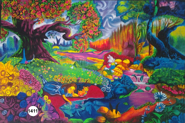 UV Glow Painting Colorful Fairyland
