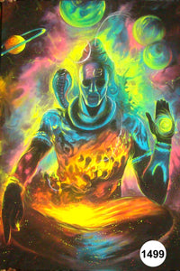 UV Glow Painting Lord Shiva