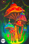 UV Glow Painting Mushrooms Multi-color