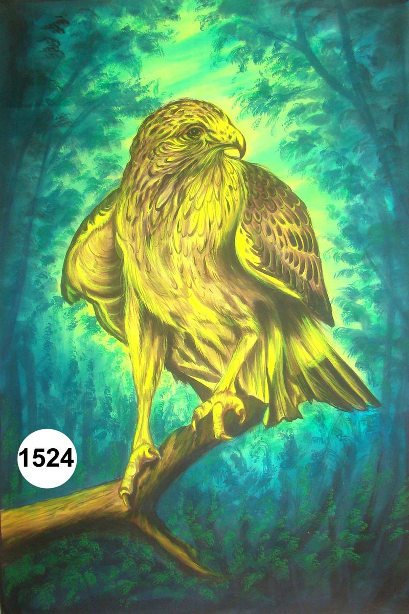 UV Glow Painting Yellow Eagle