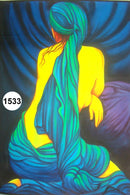 UV Glow Painting Women Back View