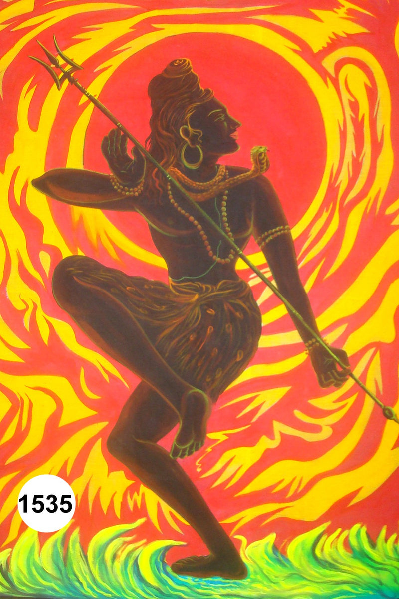 UV Glow Painting Lord Shiva Tandav Fire