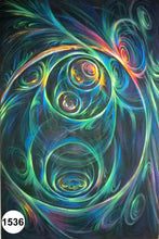 Load image into Gallery viewer, UV Glow Painting Abstract Swirls