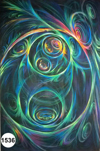 UV Glow Painting Abstract Swirls
