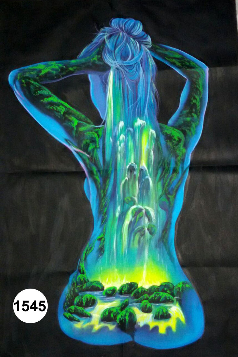 UV Glow Painting Woman Abstract