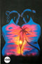 UV Glow Painting Women Abstract