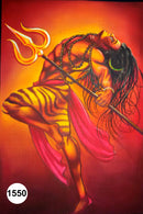 UV Glow Painting Lord Shiva Tandav