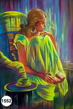 Load image into Gallery viewer, UV Glow Painting Woman Sitting