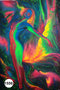 UV Glow Painting Naked Women Abstract