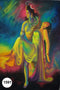 UV Glow Painting Lord Shiva carrying Parvati