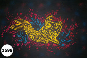 UV Glow Painting Fish Abstract