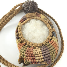 Load image into Gallery viewer, Handcrafted string neckpiece with rudraksh and seacrystal