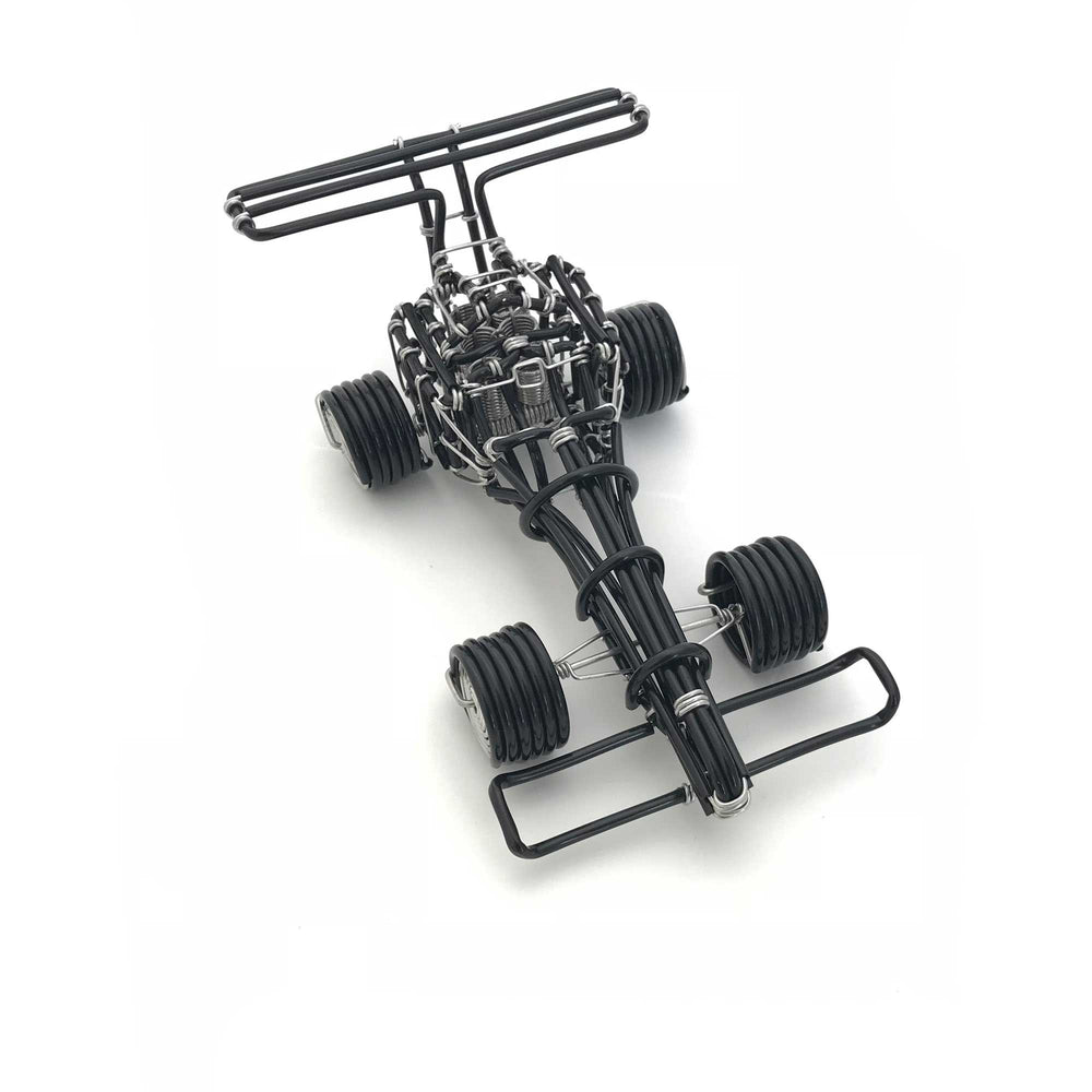 Miniature Wire Art Formula 1 Car hand-crafted from aluminium wire
