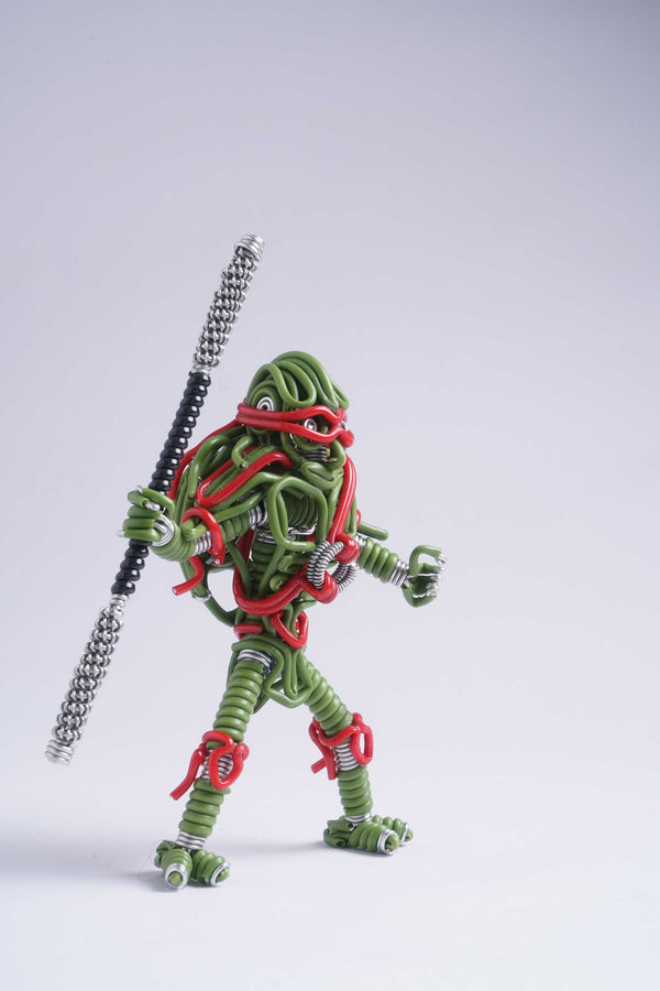 hand-crafted Wire-art Ninja Turtle