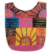 Load image into Gallery viewer, Cotton Shoulder Bag with embroidered OM