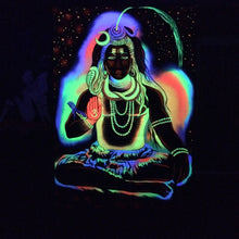 Load image into Gallery viewer, UV Glow Fluorescent Painting Shiva
