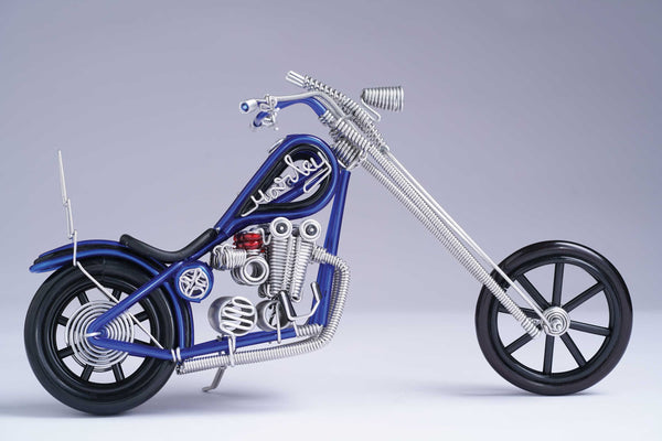 hand-crafted Wire-art Harley Bike