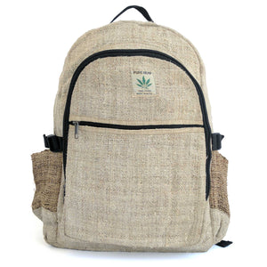 Hemp backpack made from 100% pure hand-woven Hemp