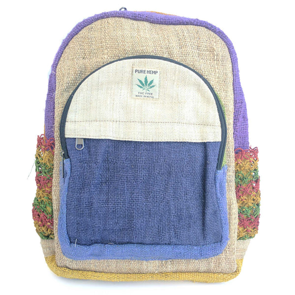 Hemp backpack made from 100% pure hand-woven HEMP and natural vegetable dye