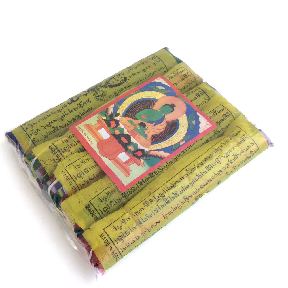 Buddhist Tibetan Prayer Flags Large 480cms pack of 5 rolls