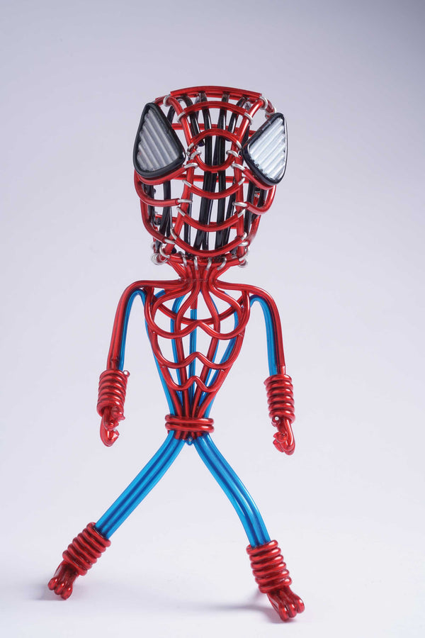 hand-crafted Wire-art Spiderman