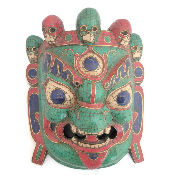 Guardian Bhairav Wooden Wall Mask