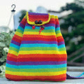 Crochet Rainbow Backpack