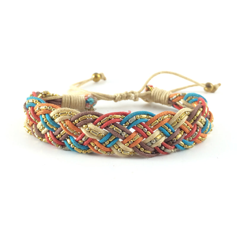 Bracelet handcrafted with Macrame art using highquality strings