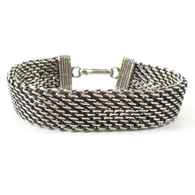 Load image into Gallery viewer, Sterling Silver Bracelet Mesh Pattern