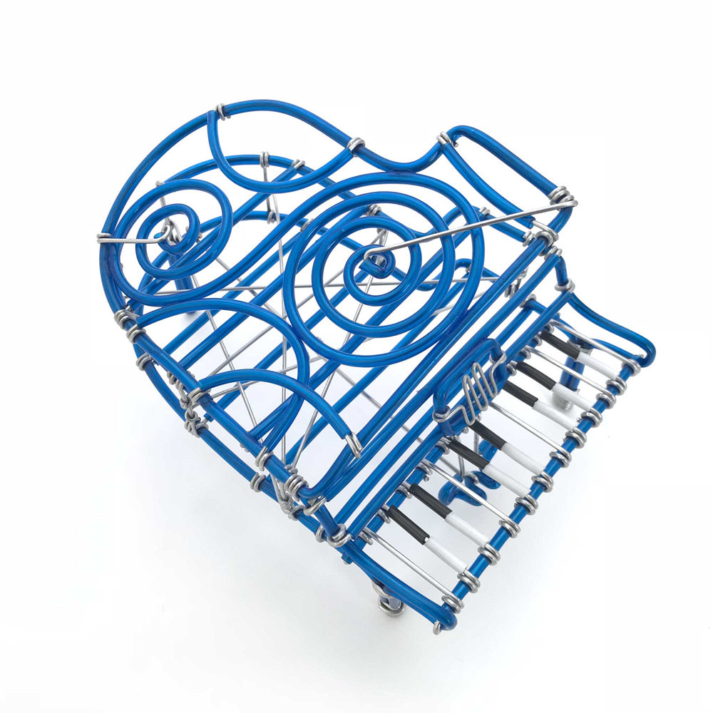 Buy Miniature Wire Art Piano hand-crafted from aluminium wire online ...