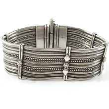 Load image into Gallery viewer, Sterling Silver Bracelet 10 Strings