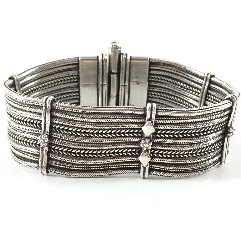 Sterling Silver Bracelet 10 Strings