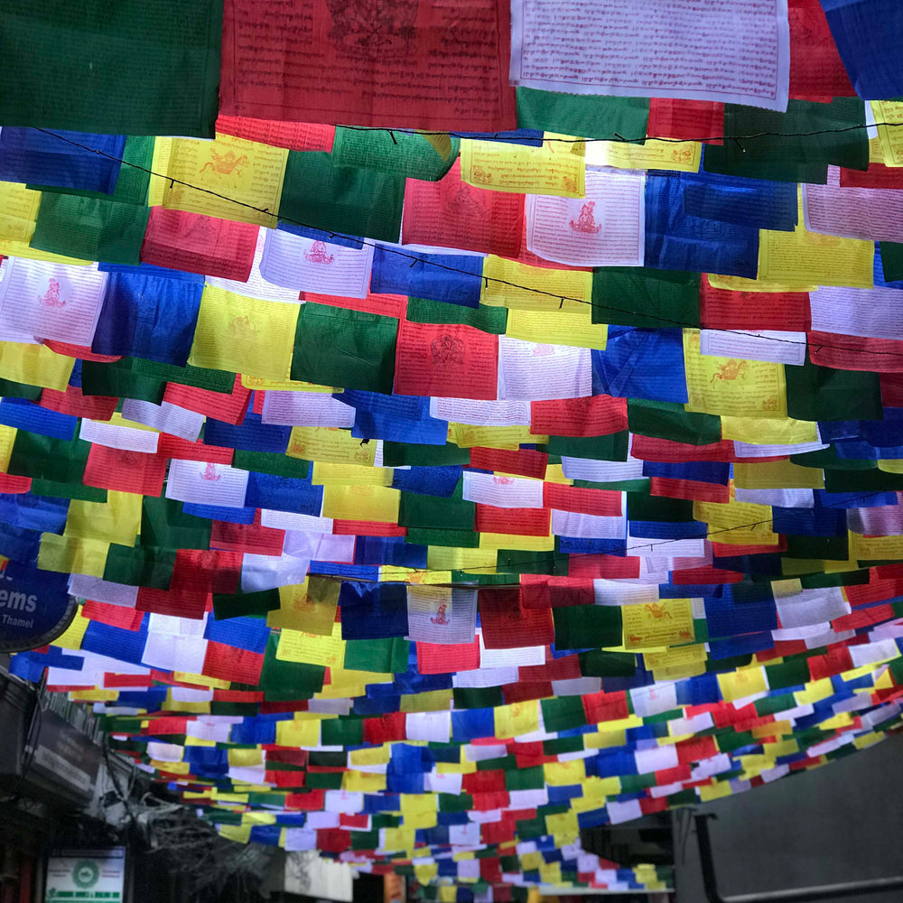Buddhist Tibetan Prayer Flag Small 130cms Street view