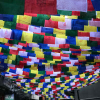 Buddhist Tibetan Prayer Flag Medium 360cms street view