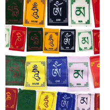 Load image into Gallery viewer, Buddhist Tibetan Prayer Flag Om Mani Padme Hum Cotton Mini comparison