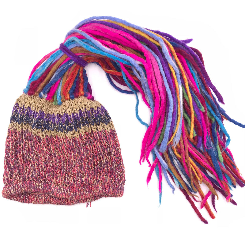 Dreadlocks Beanie Cap hand-crafted from felt
