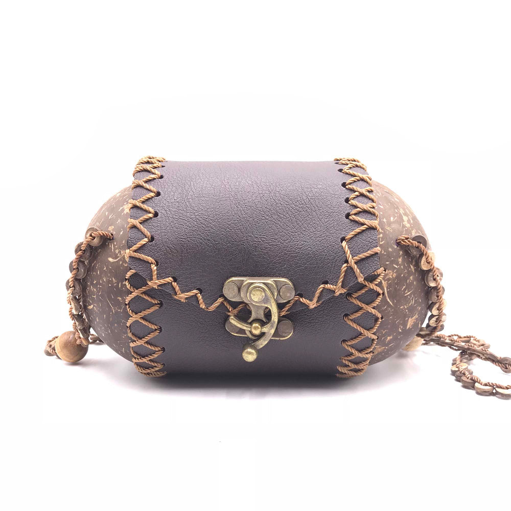 String Bag hand-crafted from coconut shells