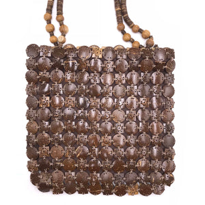 Hand-bag made from recycled coconut shells