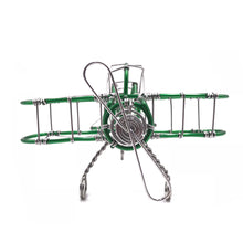 Load image into Gallery viewer, Miniature Wire Art Airplane hand-crafted from aluminium wire