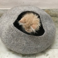 Cat cave cat home for cats hand-made from felt