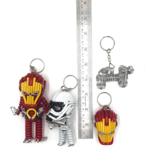 Load image into Gallery viewer, Miniature Wire Art Iron man Keychain hand-crafted from aluminium wire