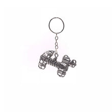 Load image into Gallery viewer, Miniature Wire Art Dog keychain hand-crafted from aluminium wire