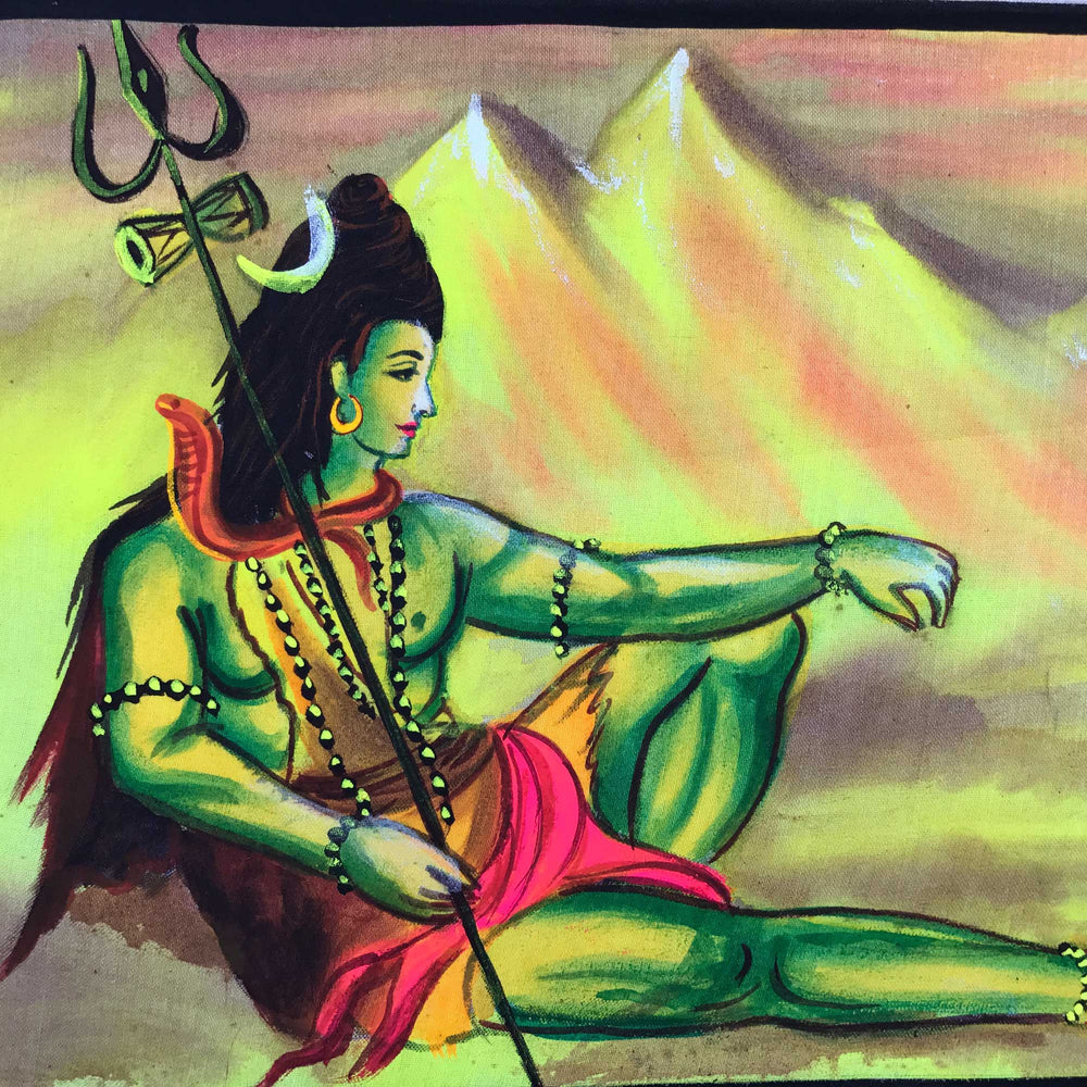 Buy uv glow painting lord shiva online india atrangi uv glow lord shiva painting made from fluorescent colors voltagebd Image collections