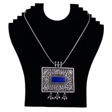 Load image into Gallery viewer, Silver Neckpiece Blue Lapis stone