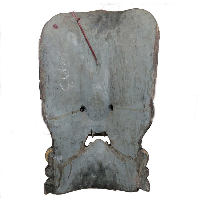 Guardian Bhairav Wooden Wall Mask with Metal work